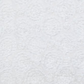 White Rose Ribbon Apparel Fabric