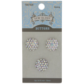 Rhinestone Cluster Shank Buttons