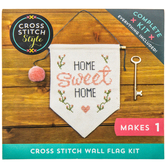 Home Sweet Home Flag Cross Stitch Kit
