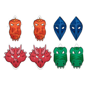 Dinosaur Foam Masks