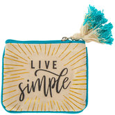 Live Simple Canvas Coin Purse
