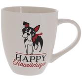 Happy Howlidays Boston Terrier Mug