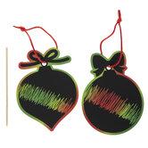 Scratch Art Ornaments Craft Kit
