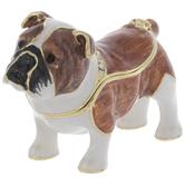 Brown Bulldog Jewelry Box