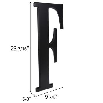 Black Letter Wood Wall Decor - F