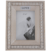 "Love Beaded Wood Frame - 4"" x 6"""