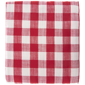 Red & White Buffalo Check Tablecloth