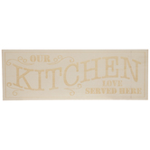 Our Kitchen Wood Wall Decor