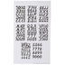 Black Scroll Alphabet Stickers