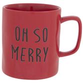 Red Oh So Merry Mug