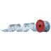 Blue & Silver Glitter Snowflake Wired Edge Sheer Ribbon - 2 1/2
