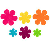 Bright Felt Flower Stickers