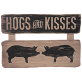 Hogs And Kisses Wood Wall Decor