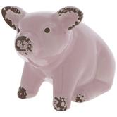 Light Pink Pig Sitting Up