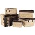 Natural Woven Lined Basket Set
