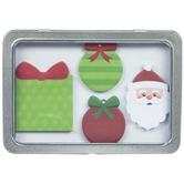 Christmas Icon Sticky Notes With Tin