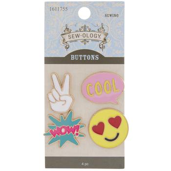 Enamel Emoji Shank Buttons