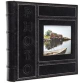 Black Photo Album With Photo Window