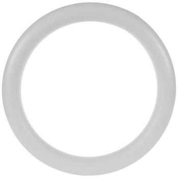 "White CraftFoM Foam Wreath - 18"""