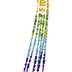 Rainbow Tassel Glass Seed Bead Strand