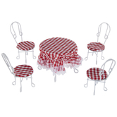 Miniature Soda Fountain Table & Chairs