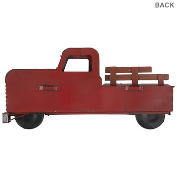 Red Vintage Truck Metal Wall Decor