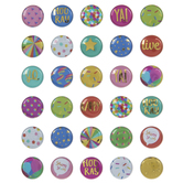 Bright Party Button Puffy Stickers