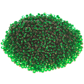 Silver Lined Emerald Czech Glass Seed Beads - 11/0