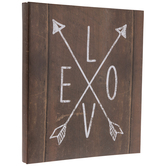 "Love Arrows Post Bound Scrapbook Album - 8 1/2"" x 11"""
