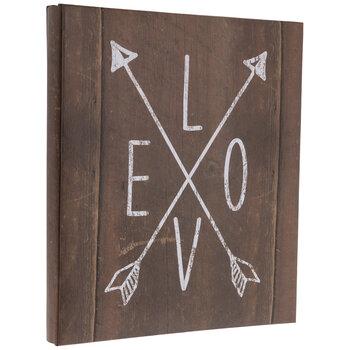 "Love Arrows Post Bound Scrapbook Album - 8 1/2"" x 11"""