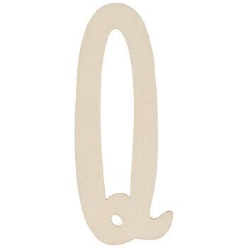 "Vintage Sign Wood Letters Q - 4"""