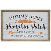 Pumpkin Patch Wood Wall Decor