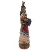 Native American Holding Basket
