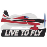 Live To Fly Airplane Wood Wall Decor