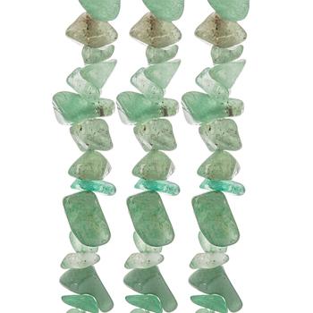 Green Aventurine Agate Bead Chip Strands