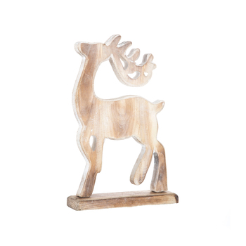 Standing Deer Wood Decor - Small