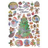 Christmas Icons Foil Stickers