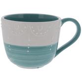 Blue & White Drapery Textured Mug