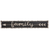 Family Arrow Metal Wall Decor