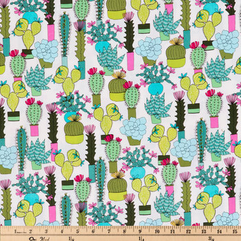 Botanical Succulents Apparel Fabric