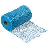"Turquoise Metallic Deco Mesh Ribbon - 5 1/2"""