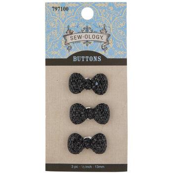 Rhinestone Bow Shank Buttons
