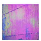"Iridescent Grape Streaky Stained Glass Sheet - 12"" x 12"""