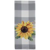 Sunflower Buffalo Check Kitchen Towel