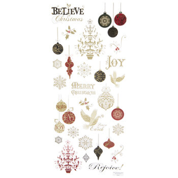 Ornate Christmas Foil Stickers