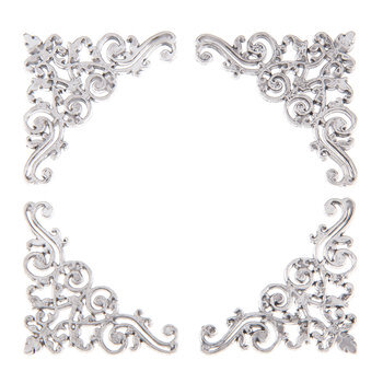 Silver Ornate Photo Corner Embellishments