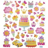 Happy Birthday Glitter Stickers