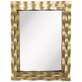 Gold Wavy Frame Metal Wall Mirror