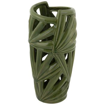 Green Leaf Cutout Vase