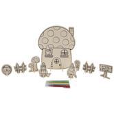 Gnome House Scene Wood Craft Kit